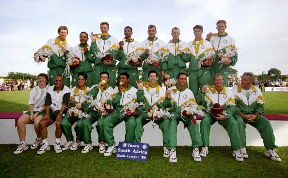 South Africa celebrate gold