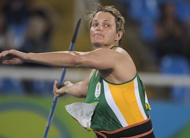 RIO DE JANEIRO, BRAZIL - AUGUST 16: Sunette Viljoen of South Africa in the qualification round of the women's javelin during the evening session on Day 11 Athletics of the 2016 Rio Olympics at Olympic Stadium on August 16, 2016 in Rio de Janeiro, Brazil. (Photo by Roger Sedres/Gallo Images)