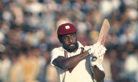 Sir Viv Richards of West Indies in action